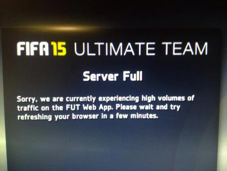 FIFA 15 Web App Down Yesterday: Crowded